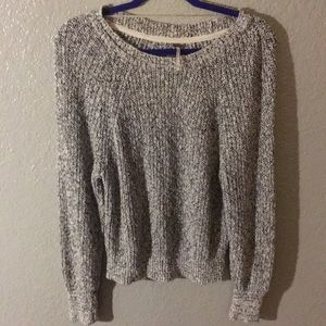 Free People black and white knitted sweater size M